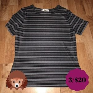 CASUAL CORNER Grey Stripes Too Small
